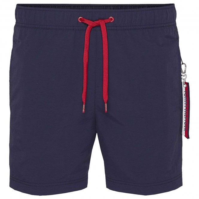 Tommy Hilfiger SF Medium Drawstring Swim Shorts, Navy Blazer