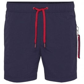 SF Medium Drawstring Swim Shorts, Navy Blazer