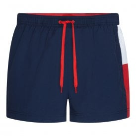 Short Drawstring Swim Shorts, Pitch Blue