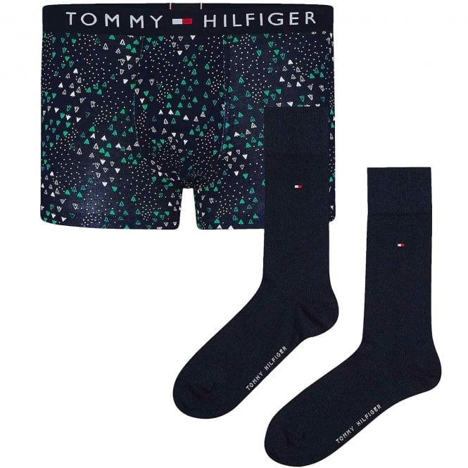 Tommy Hilfiger Trunk & Sock Gift Set, Desert Sky