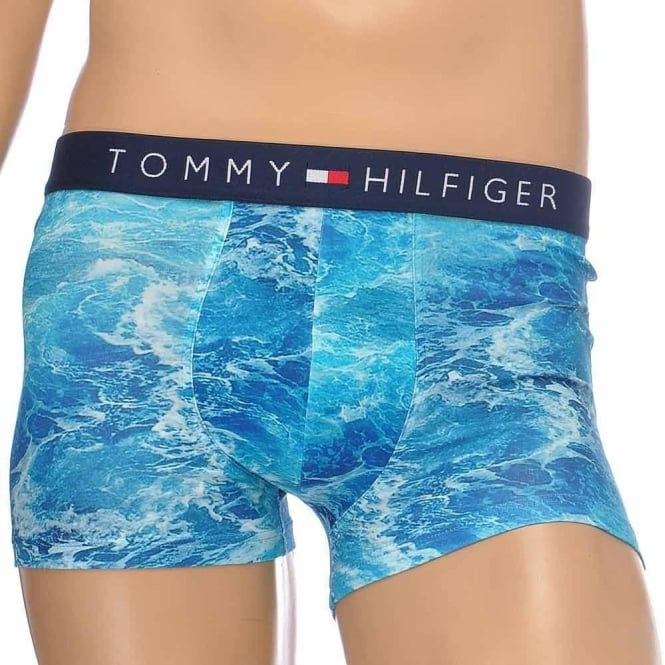 Tommy Hilfiger Icon Photo Print Stretch Cotton Trunk, Faded Denim