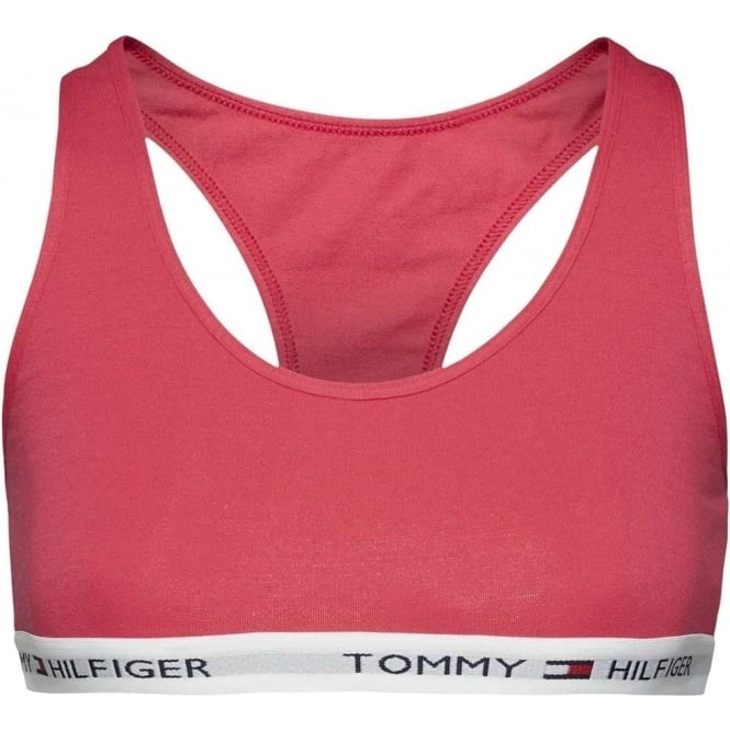 Tommy Hilfiger Women Iconic Cotton Bralette, Raspberry