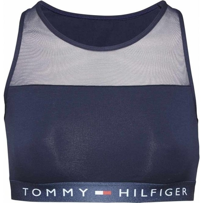9a9dca26742 Tommy Hilfiger Women Sheer Flex Cotton Bralette Navy