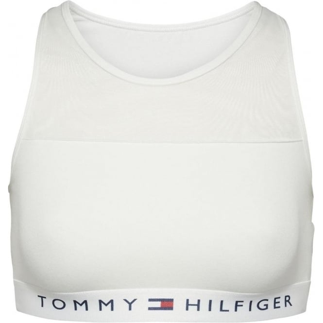 Tommy Hilfiger Women Sheer Flex Cotton Bralette, White