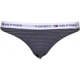 Iconic Cotton Bikini Brief, White / Black Stripe
