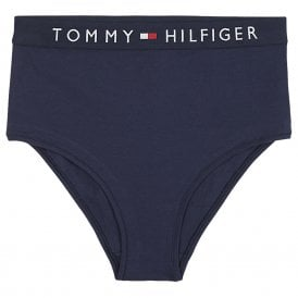Original Logo High Waist Bikini Brief, Navy