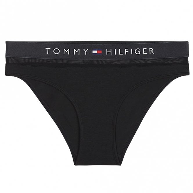 Tommy Hilfiger Women Sheer Flex Cotton Bikini Brief, Black