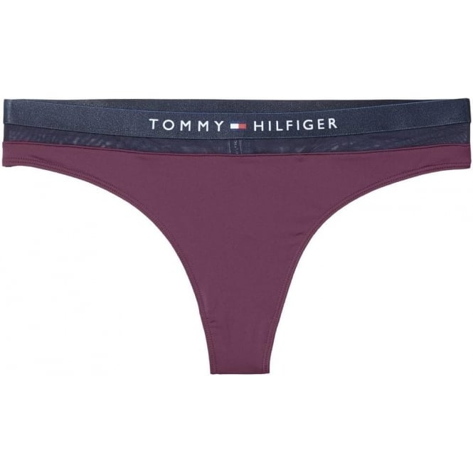 Tommy Hilfiger Women Sheer Flex Cotton Thong, Potent Purple