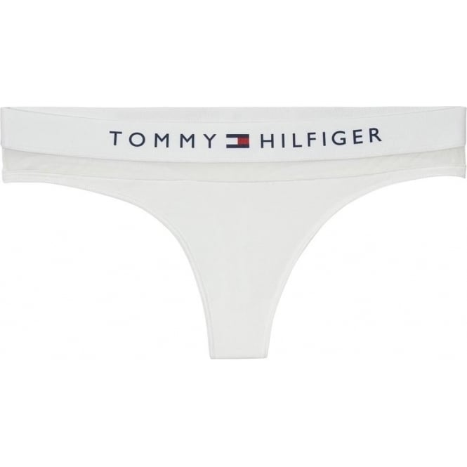 Tommy Hilfiger Women Sheer Flex Cotton Thong, White