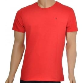 Organic Cotton Short Sleeved Crew Neck T-Shirt, Red