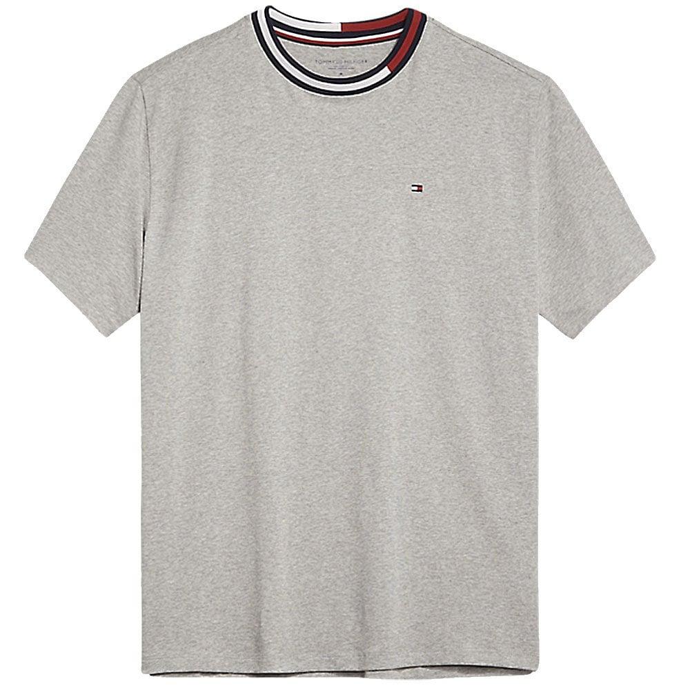 26b6103c9 Tommy Hilfigier Signature Tape Short Sleeved Crew Neck T-Shirt Grey