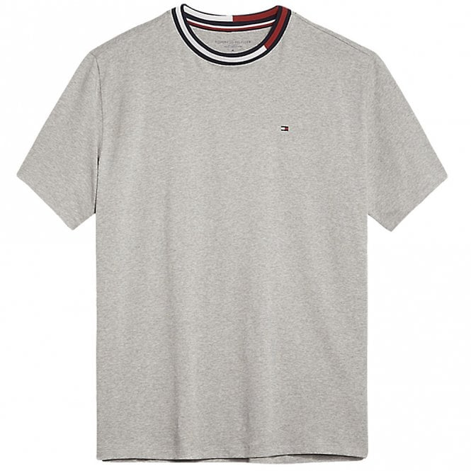 Tommy Hilfiger Signature Tape Short Sleeved Crew Neck T-Shirt, Grey