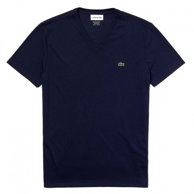 Lacoste V-Neck Pima Cotton Jersey T-shirt, Navy