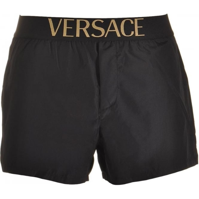 Versace Apollo Short Swim Shorts, Black