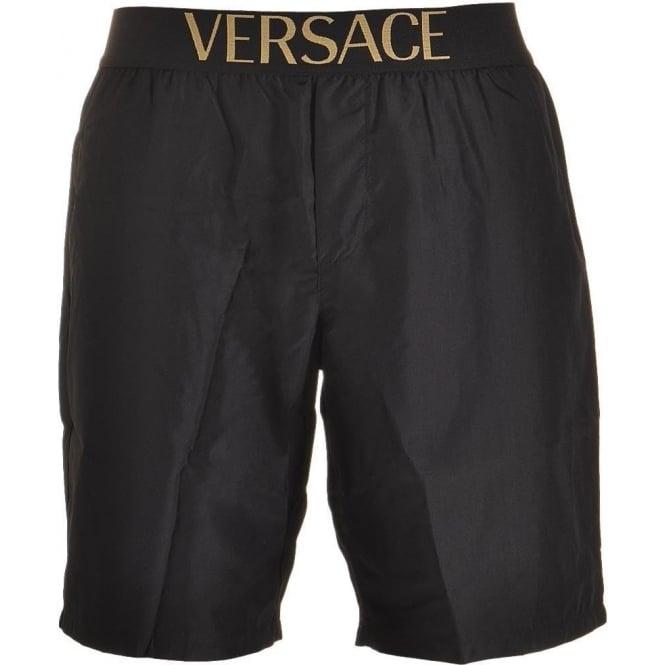 c2ed51244c Versace Apollo Swim Shorts Black