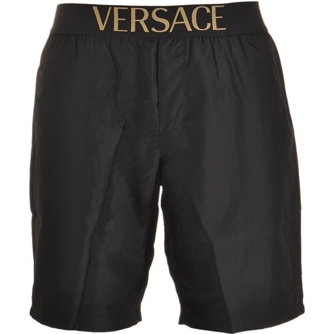 Versace Apollo Swim Shorts, Black