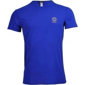 Iconic Stretch Cotton Crew Neck T-Shirt, Blue