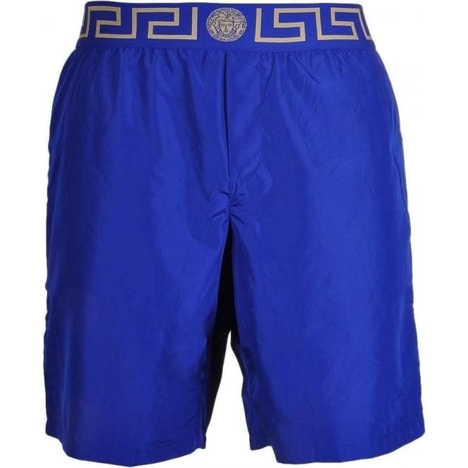 3cd6a0eb5f Versace Iconic Greca Medusa Swim Shorts Blue