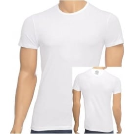 Iconic Stretch Cotton Crew Neck T-Shirt, White