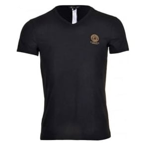 Red Versace Iconic Crew-Neck Stretch Cotton Men/'s T-Shirt