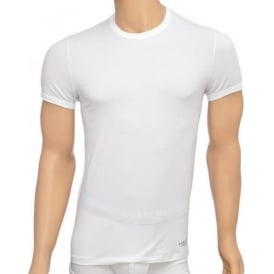 Titan Stretch Cotton Crew Neck T-Shirt, White