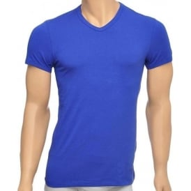 Titan Stretch Cotton V-Neck T-shirt, Royal Blue
